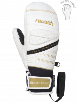 Reusch Lara Gut 4931414 1130 white yellow front